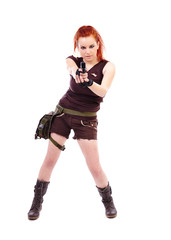Military redhead beautiful young lady
