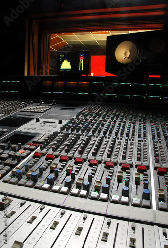 recording desk sound music studio