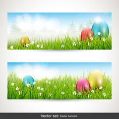 Easter banners - vector set