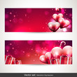 Valentine's Day banners - vector set