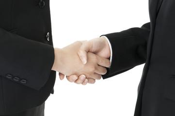 握手する若いビジネスウーマン