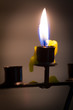Beautiful candle with defocus background