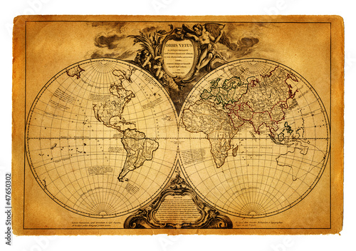 mapa świata 1752