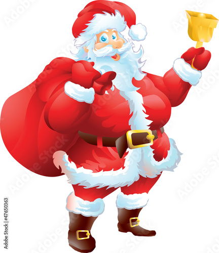 Santa Claus with Christmas bag