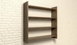 Shelving Unit On A Wall Perspective