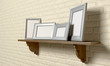 Shelf With Picture Frames Perspective
