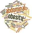Постер, плакат: Word cloud for Abdominal obesity