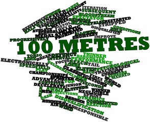 Word cloud for 100 metres