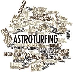 Word cloud for Astroturfing