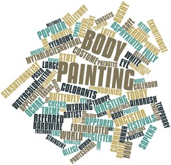 Word cloud for Body painting