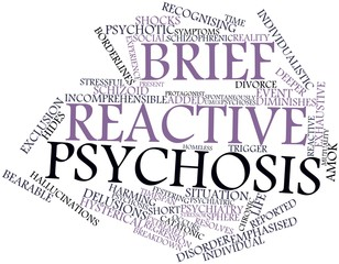 Word cloud for Brief reactive psychosis