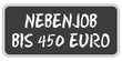 TF-Sticker eckig oc NEBENJOB BIS 450 EURO