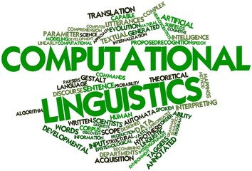 Word cloud for Computational linguistics