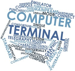 Word cloud for Computer terminal