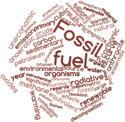 Word cloud for Fossil fuel