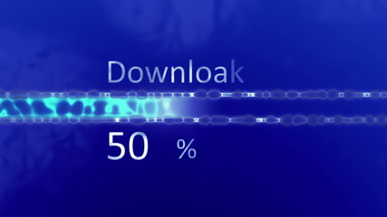 Downloading progress with percentage, HD 1080