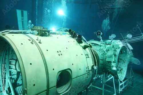 Underwater space simulator in Cosmonaut training center