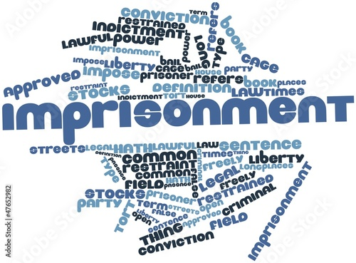 Word cloud for Imprisonment