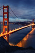 Golden Gate Bridge and San Francisco lights