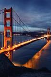 Golden Gate Bridge and San Francisco lights