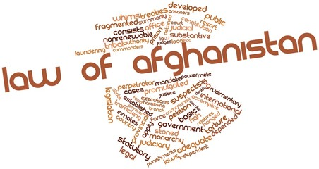 Word cloud for Law of Afghanistan