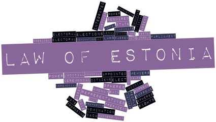 Word cloud for Law of Estonia