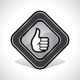 Thumbs-Up/Like Icon Design Stock Vector