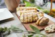 Baguette mit Oliven