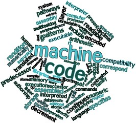 Word cloud for Machine code