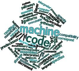 Word cloud for Machine code