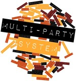 Word cloud for Multi-party system