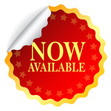 Vector now available red sticker