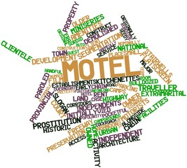 Word cloud for Motel