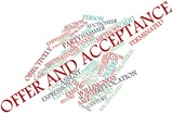 Word cloud for Offer and acceptance