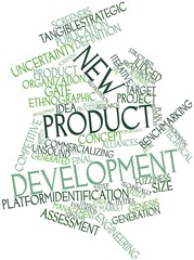 Word cloud for New product development
