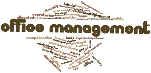 Word cloud for Office management
