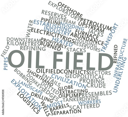 Word cloud for Oil field