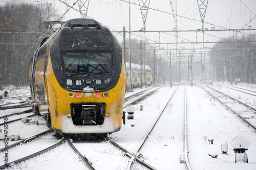 Train in snow