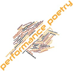 Word cloud for Performance poetry
