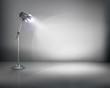 Standing lamp. Vector illustration.