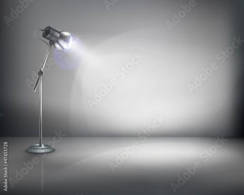 Standing lamp. Vector illustration.