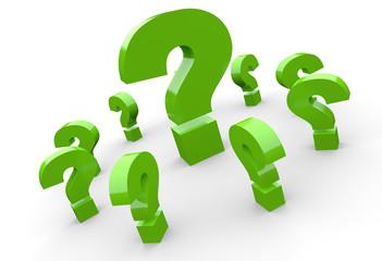 Fragen über Fragen Konzept - Grün