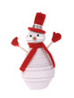 lonely snowman make of corrugated paper