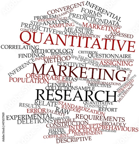 Word cloud for Quantitative marketing research