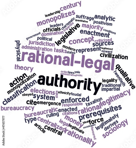 Word cloud for Rational-legal authority
