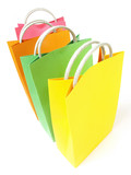 Paper merchandise bags poster