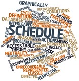 Word cloud for Schedule