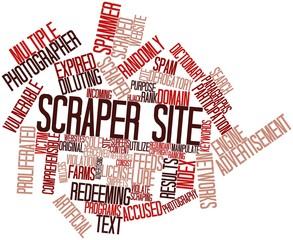 Word cloud for Scraper site