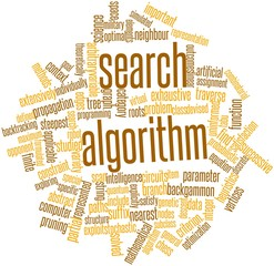 Word cloud for Search algorithm
