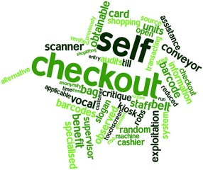 Word cloud for Self checkout